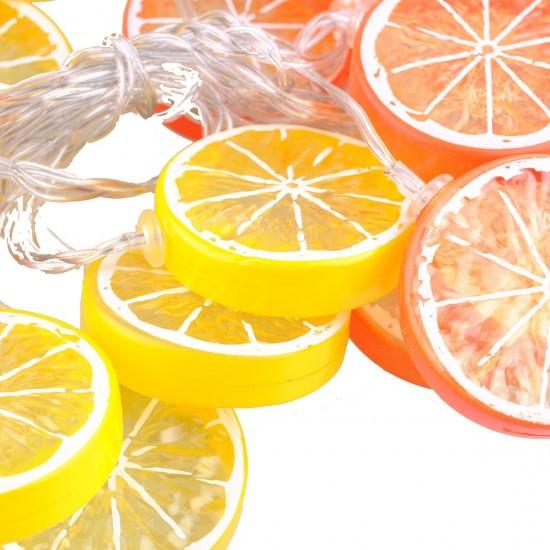 1,5 Metre 10lu Limon Dilimi Şeklinde Dekoratif Dolama Led Aydınlatma