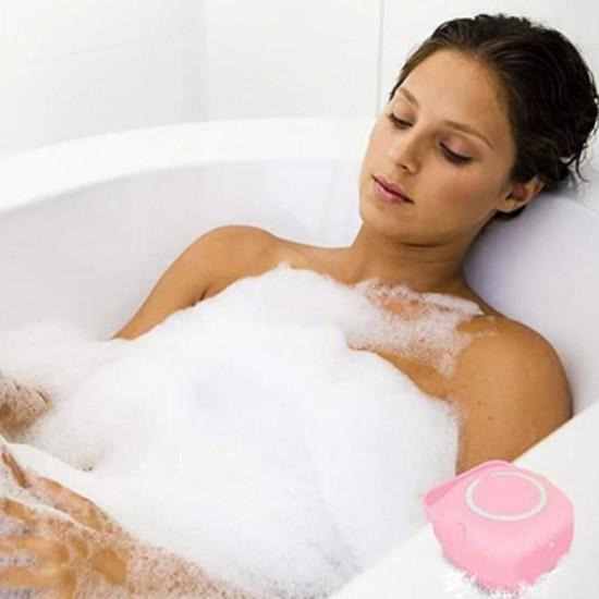 Yumuşak Silikon Malzemeli Esnek Jel Hazneli Masaj Fonksiyonlu Etkili Banyo Duş Kese Lifi