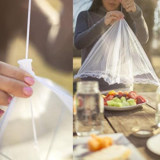 Gıda Koruma Şemsiyesi Yiyecek Yemek Sinek Koruyucu Tül Aparat