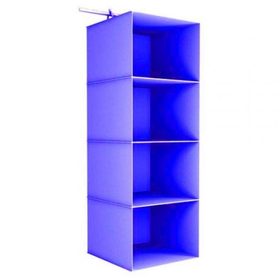 4 Gözlü Dolap Organizer - Mavi