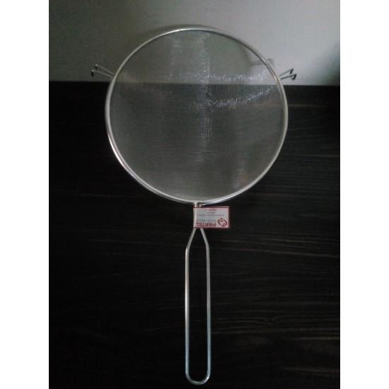 18 cm Metal Saplı Kalaylı Un - Süt - Şeker - Bakliyat Süzgeci
