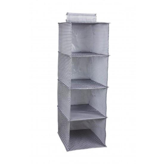 4 Gözlü Dolap Organizer Zebra Model